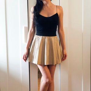 Zara Faux Leather Pleated Mini Skirt